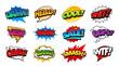 Comic Speech Bubbles Pop Art Vector Set