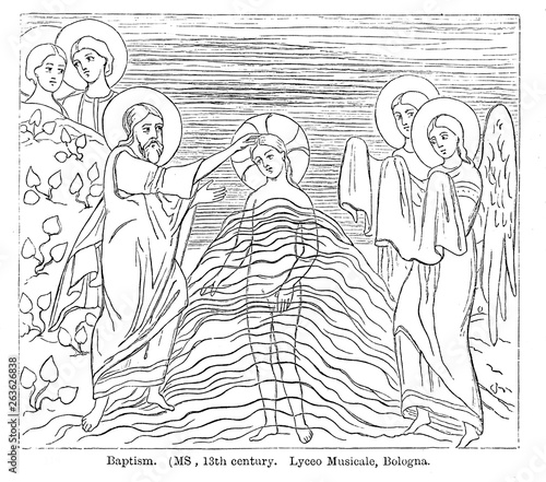 Cuadros en Lienzo Christian illustration. Old image