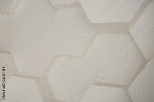 Türaufkleber Metall wall background. background texture. wall with textured hexagons. the diamonds on the wall. white wall