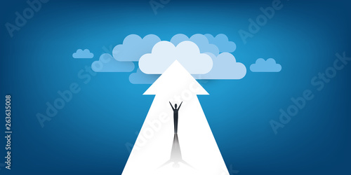 Fototapeta New Possibilities, Hope, Dreams - Business, Solutions Finding Concept - Man Stan