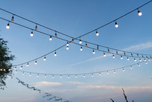 Light Bulb Decor With Blue Sky
