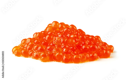 Photo sur Aluminium Roe Handful of red caviar