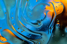 Bubbles World Colorfull Macro Abstract In Watter Surface Background