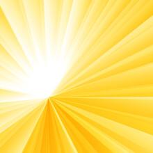 Abstract Light Burst Yellow Radial Gradient Background. Sunburst Rays Pattern.