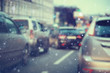 blurred transport background snow / traffic on a winter highway, seasonal auto concept, blurry auto texture, traffic jams