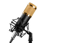 Microphone Isolated On A White...