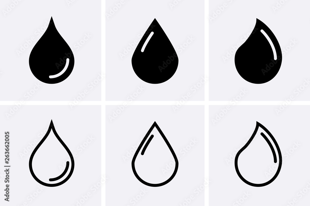 Fototapety, obrazy: Water drop Icons