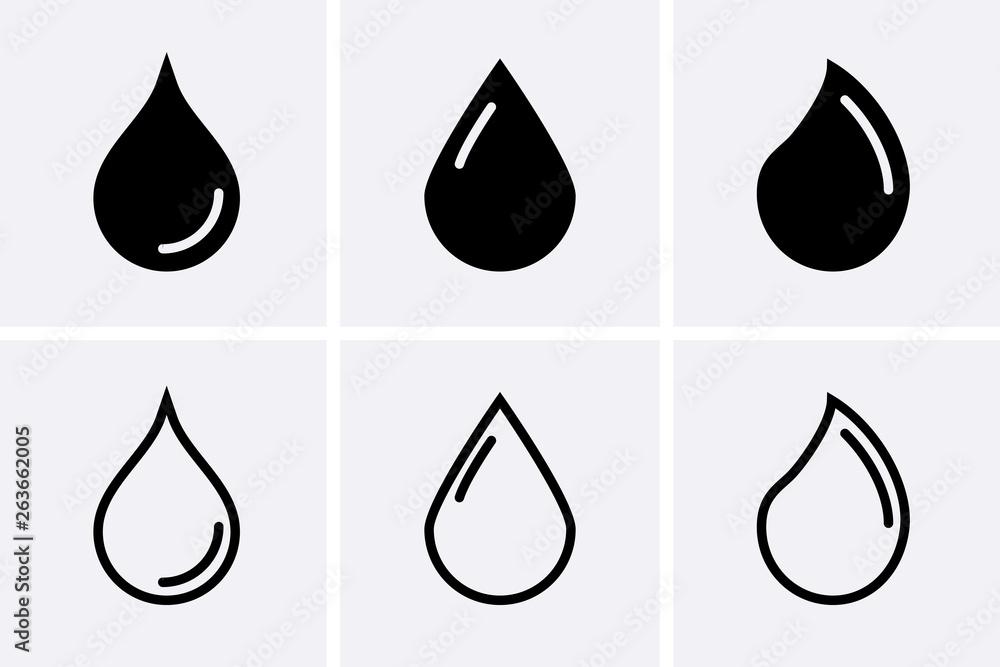 Fototapeta Water drop Icons