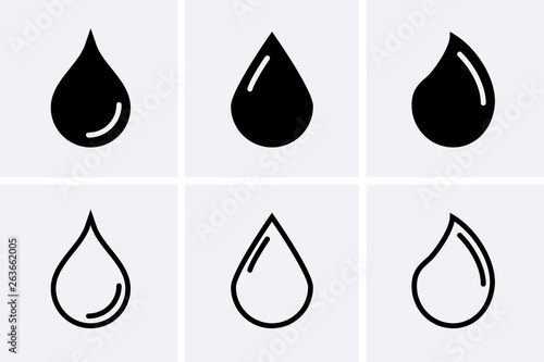 Water drop Icons Tablou Canvas