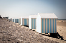 Row Of Beach Huts At Hardelot