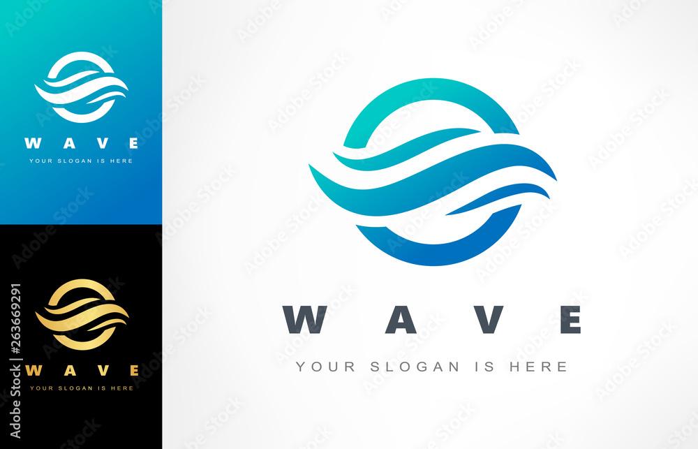 Fototapeta Wave logo vector