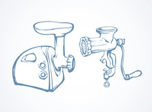 Meat Grinder. Vector Drawing