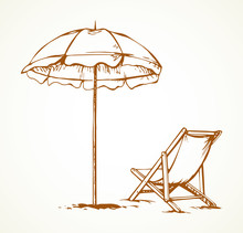 Parasol. Vector Drawing