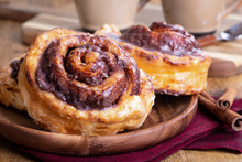 Plate Of Glazed Cinnamon Rolls