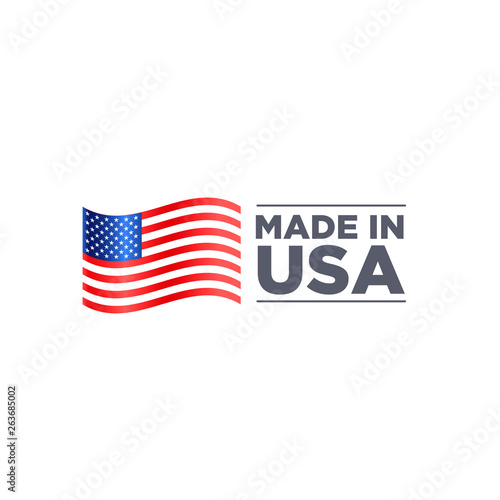 MADE IN USA Tableau sur Toile