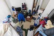 Very Messy Teenage Boys Bedroom