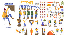 Mountain Climber Animation Set...