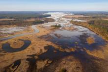 Spring Flood On Floodplain. Sp...