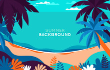 Vector Illustration - Beach La...