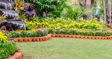 Vivid Flower Pot Decoration In...