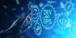 canvas print picture - DevOps Agile development concept on virtual screen.