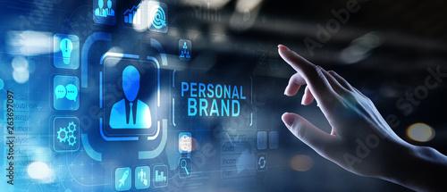 Personal branding brand development business education concept. Billede på lærred