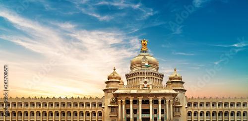 Fotografia  Vidhana soudha of Parliment, Bangalore, India 1