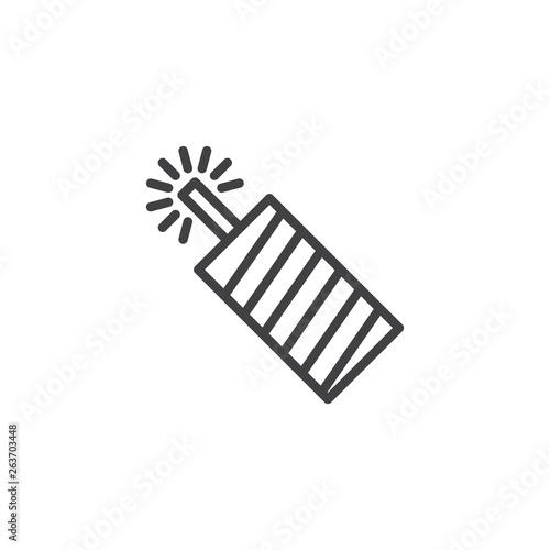 Firecracker, petard line icon Fototapeta