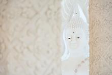 White Buddha Statue In Church Of Huai Pla Kung Temple.Chiang Rai, Thailand.