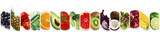 Fototapeta Tęcza - Collection of organic fruits and vegetables, vegetarian diet concept