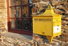 German Yellow Mailbox