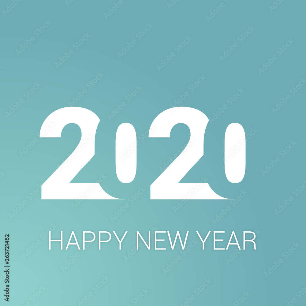 Fototapeta 2020 -  happy new year 2020
