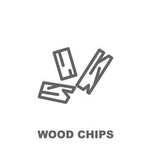 Wood Chips Icon. Element Of Row Matterial Icon. Thin Line Icon For Website Design And Development, App Development. Premium Icon