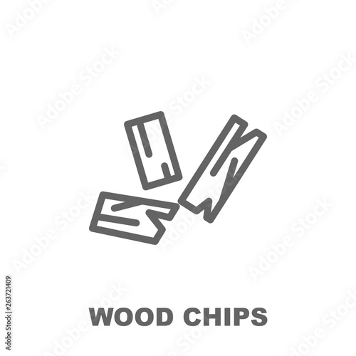 Wood chips icon Fototapet
