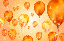 Elegant Orange Flying Helium B...