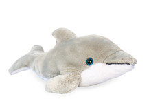 Soft White Shark Doll On A Whi...