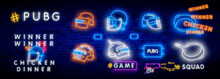 Game Battle Grounds Neon Sign,...