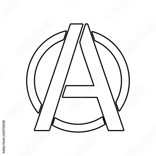 Photo a sign of anarchy icon