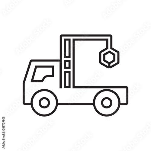 truck crane icon Canvas Print