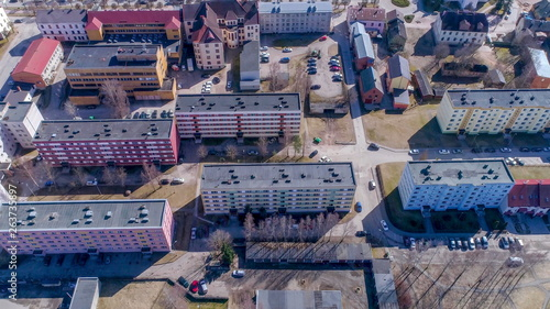 Photo  17943_A_closer_look_of_an_aerial_footage_of_the_buildings_in_Valga_Estonia