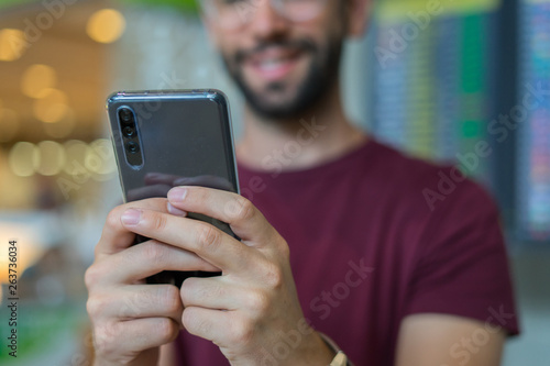 Fototapety, obrazy: close-up of mobile phone