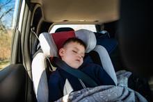 Little Kid Sleeping In Car Cha...