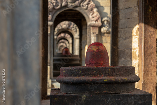 Shiva lingams in small temples