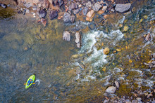 Inflatable Whitewater Kayak Aerial View
