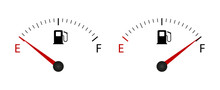 Fuel Indicator Meter. Fuel Gauge. Vector Illustration.