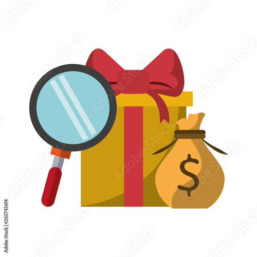 Fototapety, obrazy: Gift giving delivery business market