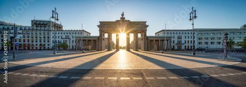 Fotobehang Berlijn Brandenburger Tor Panorama