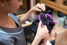Using Alligator Hair Clips While Cutting Hair