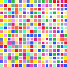 Mosaic Of A Bright Colorful Squares On A White Background.