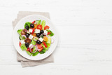 Fototapeta Coffie - Greek salad plate